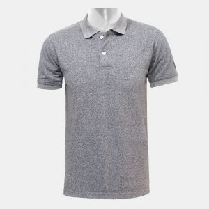 Grey 2 Buttoned Polo T-Shirt For Men