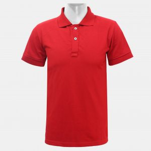 Red 2 Buttoned Polo T-Shirt For Men